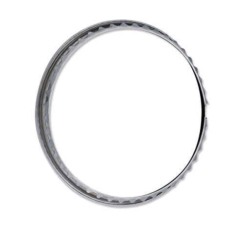 ISP West 15'' Stainless Steel Type 2 Bus Beauty Rings - Set of 4