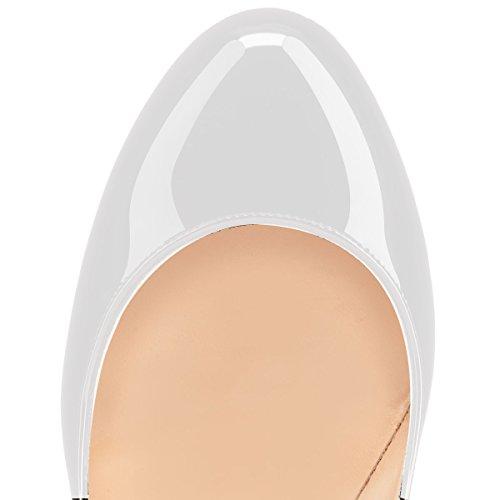 High donna Scarpe Scarpe Classico da Chiuse Heels Bianca Tacco col 12CM Soireelady Davanti xEIOqUO