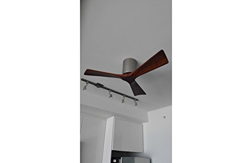 CASA BRUNO Irene Hugger DC ventilador de techo Ø 107 cm, niquel satinado, 3 aspas de madera - ideal para techos bajos: Amazon.es: Hogar
