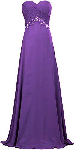 Robes De Bal En Mousseline De Soie Formelle Robe De Soirée Longue De Femmes Fourmis Violet