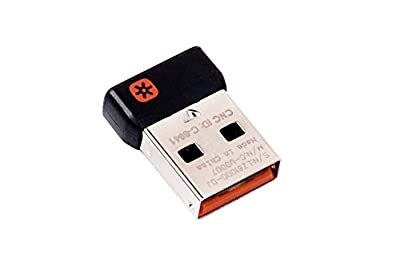 Logitech C-U0007 Unifying receiver for mouse and keyboard works with any Logitech product that display the Unifying Logo (orange star, connects up to 6 devices) (C-U0007)