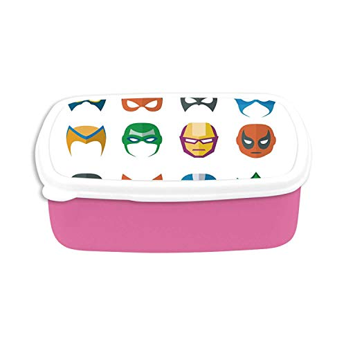 Superhero Utility Plastic Lunch Containers,Hero Mask Female Male