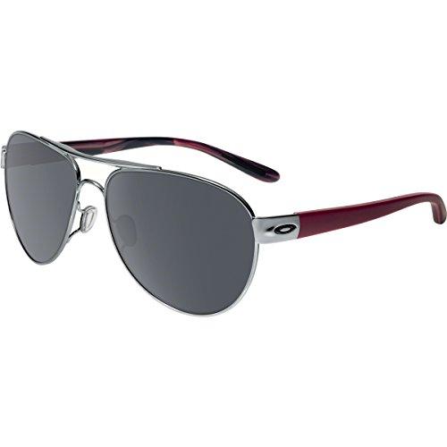 (Oakley Women's Disclosure OO4110-03 Non-Polarized Iridium Aviator Sunglasses, Black Ice, 58 mm)