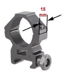 TufForce RG-W25L10m - 1 Diameter, Scope Ring, Low Profile Weaver Ring [Special now: $0 TAX, it is covered]