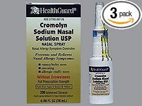 Healthguard Cromolyn Sodium Nasal Solution - .88 oz, Pack of 3