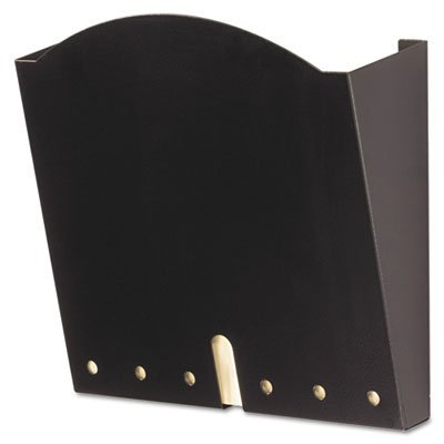 HIPAA-Compliant Wall Pocket, Letter, Black, 12 x 3 x 10 3/4, Sold as 1 Each