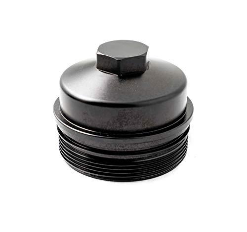 GXP Black Billet Aluminum Oil Filter Cap Compatible with 2003-2007 Ford 6.0L Powerstroke Diesel