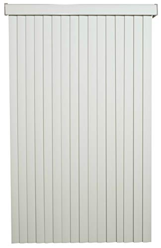 White Solid Vinyl Cordless Vertical Blinds with 3-1/2″ Smooth Vanes 80″ Wide x 48″ Long, USA