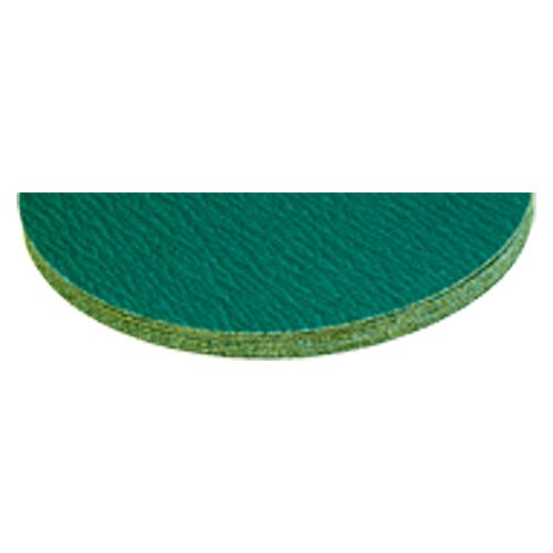 ?15? x No Hole-80 Grit - Green Zirconium - Cloth Sanding PSA Disc (Pack of 5)