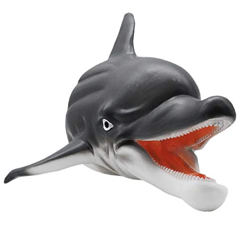 Tecesy Dolphin Hand Puppets, Soft Rubber Realistic
