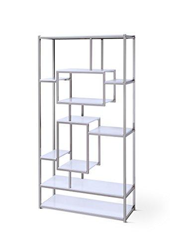 Steve Silver Company AZ250BW Alize Bookcase, White