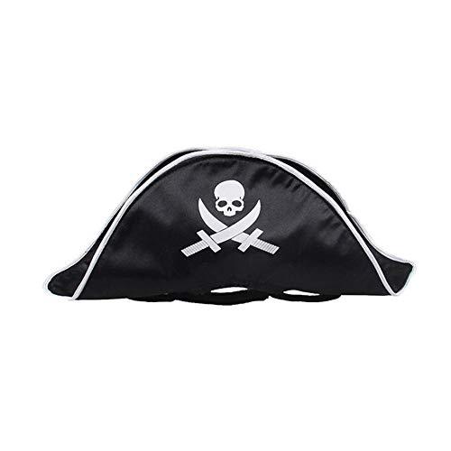 iBaste Cat Halloween Costume Small Dog Headwear Dog Cat Hat Pirate Hat Wig ()