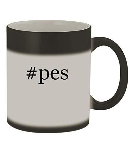 Price comparison product image #pes - 11oz Color Changing Hashtag Sturdy Ceramic Coffee Cup Mug, Matte Black