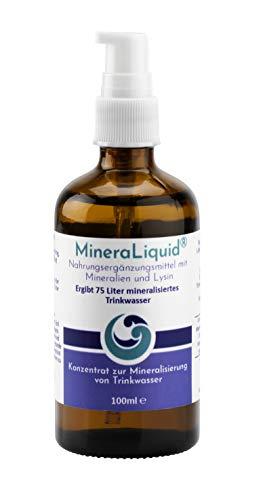 MineraLiquid® - Mineralienkonzentrat zur Mineralisierung von Getränken, Ideal in Kombination mit einem Wassersprudler, 100ml