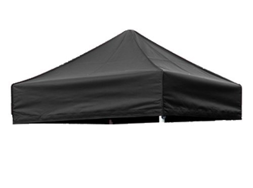 Eurmax Basic 5 X 5 Pop up Canopy Steel Outdoor Tent with 4 Zipper Sides and Carry Bag, Black