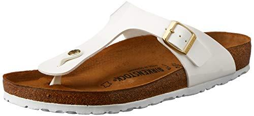 Birkenstock Unisex Gizeh Birko-Flor White Sandals 7 W / 5 M US