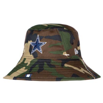 Dallas Cowboys New Era Mens Woodland Camo Training Bucket Hat -