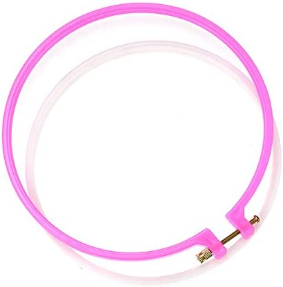 5 Pieces Embroidery Hoops Set Plastic Circle Cross Stitch Hoop Ring 5 inch to 10.6 inch for Embroidery and Cross Stitch