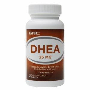 GNC DHEA 25mg à libération lente, comprimés, 90 ch