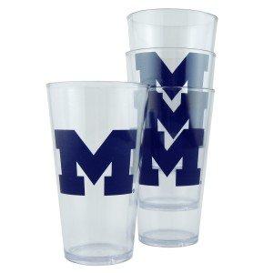 Michigan Plastic Pint Glass Set