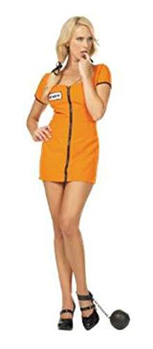 RG Costumes Women's Sexy Convict, Orange/Black, Large/8-10]()