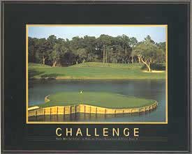 Challenge (Golf Course) by unknown. Size 30.00 X 24.00 Art Poster Print - Persistence Golf