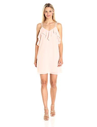 BCBGeneration Women's Ruffled Mini Dress, Rose Smoke, L