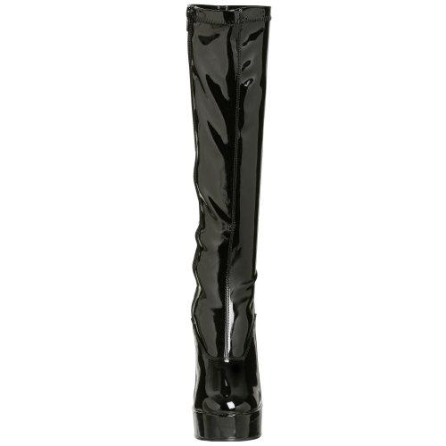 Noir blk Pleaser Str noir Pat Femme Classiques 2000z Electra Bottes wXfaO