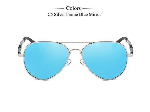 Blue plata hombre TIANLIANG04 gafas sol gafas de Accesorios Mirror Eyewears Gafas sol de gafas espejo magnesio Aluminio Hombre C6 masculino C5 polarizadas de qqzAH1
