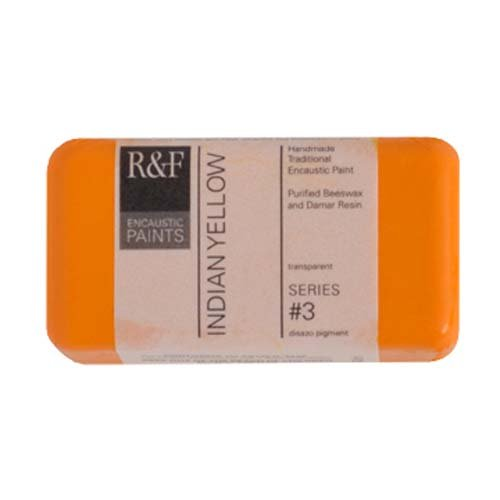 R&F Encaustic 40ml Paint, Indian Yellow