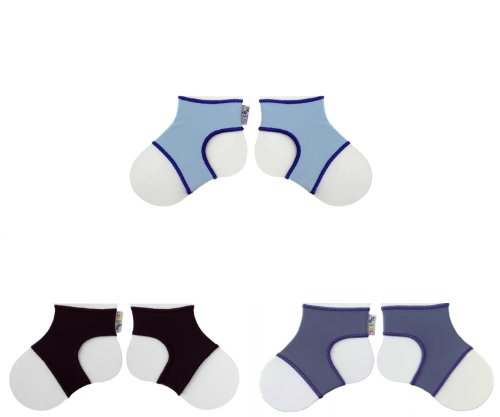 Set Ons (Sock Ons, Set of 3, Clever Little Things That Keep Baby Socks On! (6-12M, BLACK-BLUE-BLUEBERRY))