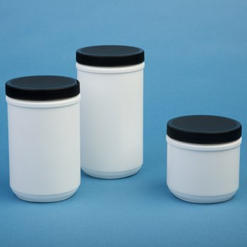Consolidated Plastics 41836 Canister with Lid, HDPE, 12 Piece, 32 oz., White Hdpe Tub