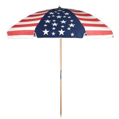 Frankford Umbrella Emerald Coast Collection 7.5 ft. Commercial Steel Beach Umbrella with Ashwood Pole