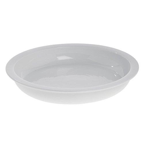 Porcelain Round Chafing Dish - HUBERT Chafing Dish Food Pan Porcelain 5 1/3 Quart Round - 15 1/4 Dia x 2 1/4 H