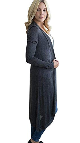 Giacca Giovane Forcella Comodo Primaverile Donna Alta Elegante Maglia Tempo A Libero Cardigan Di Cappotto Leggero Lungo Autunno Aperto Monocromo Maniche Lunghe Outwear Qualit Fashion qaBEEvz