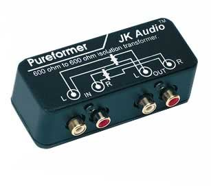 JK Audio Pureformer Stereo Isolation Transformer, 20Hz to 20kHz Frequency Response, 600ohms Impedance ()