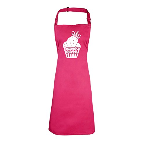 123t Slogans CUPCAKE QUEEN (HOT PINK) NEW PREMIUM HEAVYWEIGHT APRON