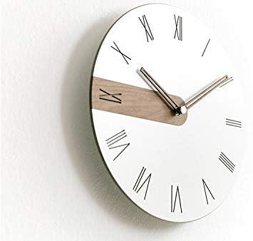 Stephanie Imports Modern Minimalist Raw Wood Roman Wall Clock