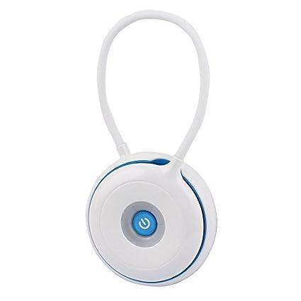 eDealMax USB portátil plegable LED de la lámpara del tacto recargable multiusos de escritorio azul claro