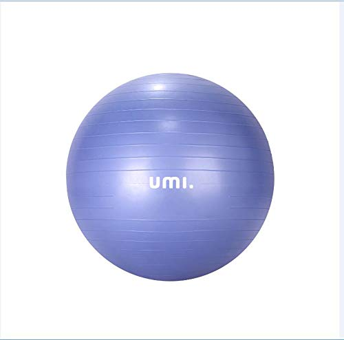 Umi. Essentials Gymnastikball Sitzball von 65cm 75cm inkl. Ballpumpe Anti-Burst Robuster Stabilität Swissball Fitnessball Yogaball (1 x 75cm Blau)