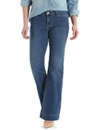 Women's Retro Mae Mid Rise Stretch Wide Leg Jean