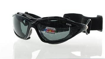 RAVS Gafas Deportivas Lentes Polarizadas para Ciclismo/Esquí/Kitesurf/Moto - Funda Flexible