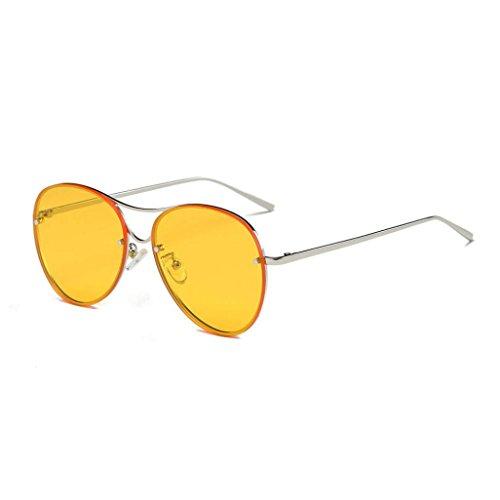 Misaky Fashion Women's Cat Eye Shades Sunglasses Integrated UV Candy Colored Glasses (Za_Yellow 1, - Men Sunglasses Nose Wide For Bridge