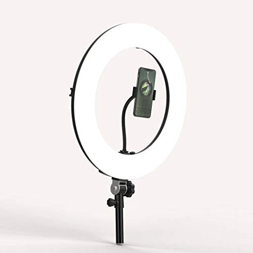 Inkeltech Ring Light - 18 inch 2700K-5600K Dimmable Bi-Color Light Ring, 60W LED Ring Light with Stand, Lighting Kit for Vlog, Selfie, Makeup, YouTube, Camera, Phone - LCD Screen & Remote Control