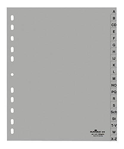 Ordner Register A-Z 20tlg. DIN A4 grau Farbe