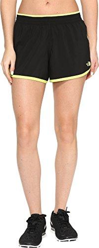 Fold Down Brief - The North Face Women's Reflex Core Shorts TNF Black/Wild Lime (Prior Season) X-Small 4