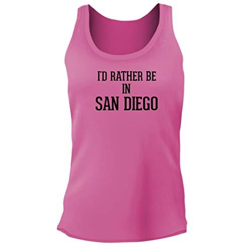 I'd Rather Be in SAN Diego - Women's Junior Cut Adult Tank Top, Pink, Medium