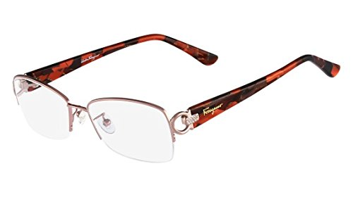 5a2c66dece Amazon.com  New Salvatore Ferragamo Rx Eyeglasses - SF2104R 643 - Antique  Rose (54-16-135)  Clothing