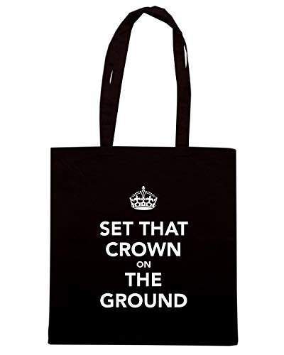 CROWN Shopper TKC1095 THAT Borsa GROUND Nera THE ON SET X4qXzd