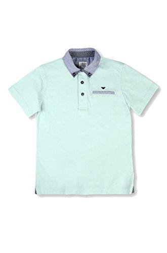 Armani Junior Boy's Short Sleeve Mint Polo w/ Collar Pattern (Big Kids) Light Green 14 Big Kids by Armani Junior (Image #3)